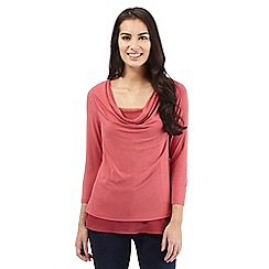 RJR.John Rocha - Dark pink cowl neck top