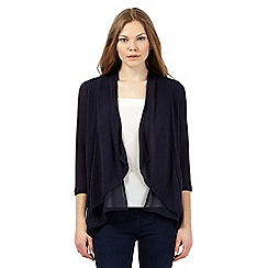 RJR.John Rocha - Navy cut and sew waterfall cardigan