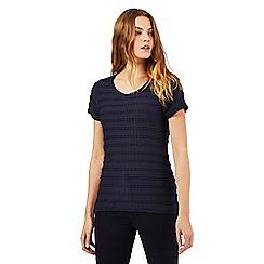 RJR.John Rocha - Navy ripple t-shirt