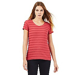 RJR.John Rocha - Dark red ripple t-shirt