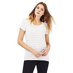 RJR.John Rocha - Ivory ripple t-shirt