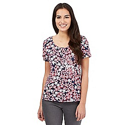 RJR.John Rocha - Navy pansy floral print t-shirt
