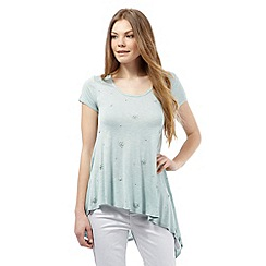 RJR.John Rocha - Pale green embellished asymmetric top