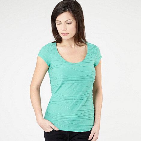 RJR.John Rocha - Apple green textured stripe t-shirt