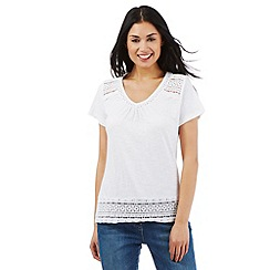 RJR.John Rocha - White organic cotton embroidered top