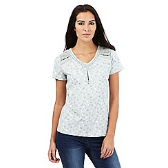 RJR.John Rocha - Pale green spot print lace top