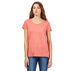 RJR.John Rocha - Coral pleated back top