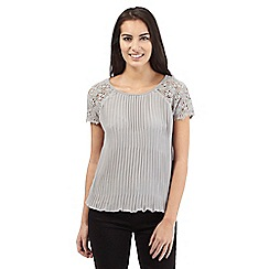 RJR.John Rocha - Grey pleated top