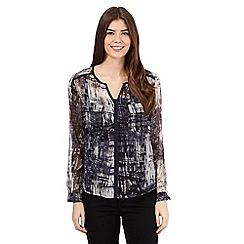 RJR.John Rocha - Navy textured print shirt