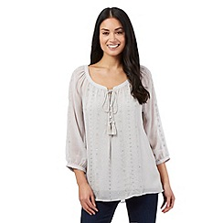 RJR.John Rocha - Grey embellished top