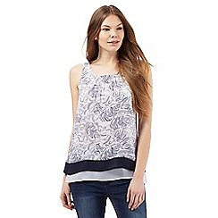 RJR.John Rocha - White fern print sleeveless top