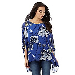 RJR.John Rocha - Blue flower print kimono top
