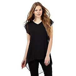 RJR.John Rocha - Black V neck woven top
