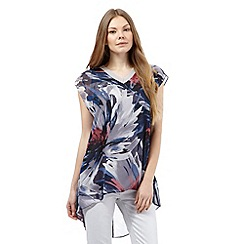 RJR.John Rocha - Multi-coloured floral brushstroke print top
