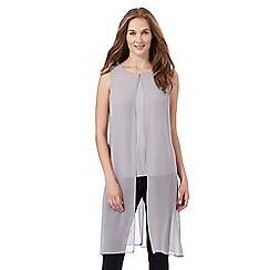 RJR.John Rocha - Light grey chiffon overlay vest