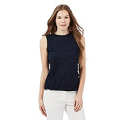 RJR.John Rocha - Navy floral lace sleeveless top