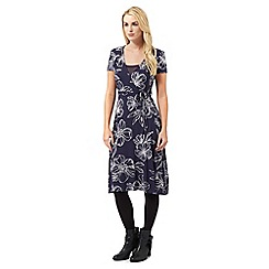 RJR.John Rocha - Navy floral mock top wrap dress
