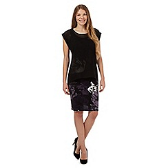 RJR.John Rocha - Black floral chiffon dress