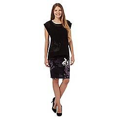 RJR.John Rocha - Black floral chiffon dress