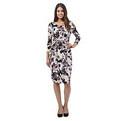RJR.John Rocha - Purple muted floral print dress