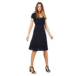 RJR.John Rocha - Navy textured jersey dress