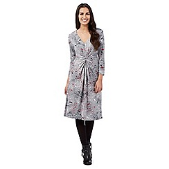 RJR.John Rocha - Dark grey floral dress
