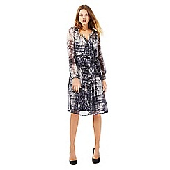 RJR.John Rocha - Navy textured print shirt dress