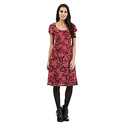 RJR.John Rocha - Dark pink floral print dress