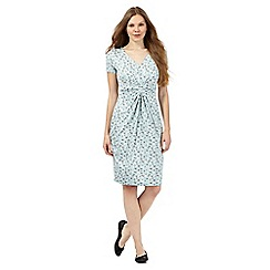 RJR.John Rocha - Pale green spotted print jersey dress