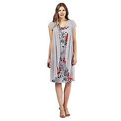 RJR.John Rocha - Light grey floral print dress