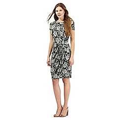 RJR.John Rocha - Dark grey bamboo print dress