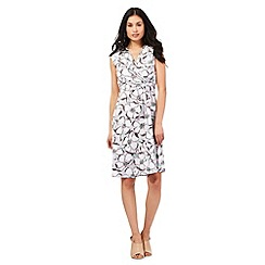 RJR.John Rocha - Light grey floral print wrap dress