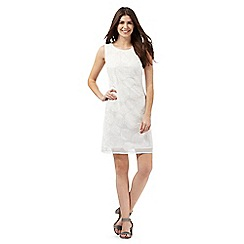 RJR.John Rocha - Ivory embroidered floral circle dress