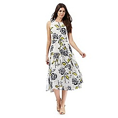 RJR.John Rocha - White floral print midi dress