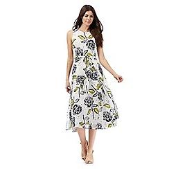 RJR.John Rocha - White floral print midi dress