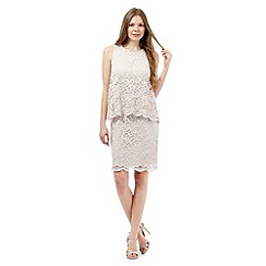 RJR.John Rocha - Pale pink layered lace dress