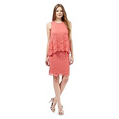 RJR.John Rocha - Coral layered lace dress