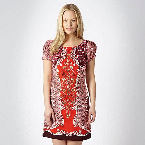 RJR.John Rocha - Orange tile patterned day dress