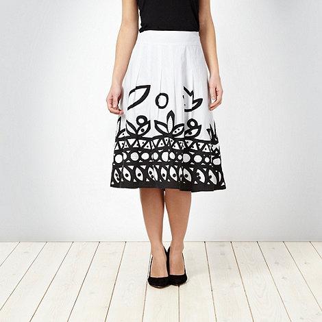 RJR.John Rocha - White embellished skirt