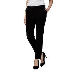 RJR.John Rocha - Black floral jacquard trousers