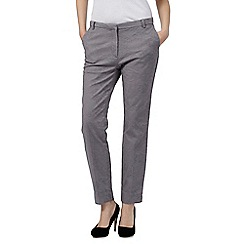 RJR.John Rocha - Grey floral jacquard trousers