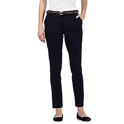 RJR.John Rocha - Navy belted chino trousers