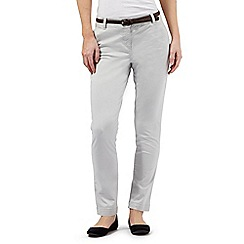 RJR.John Rocha - Light grey belted chino trousers