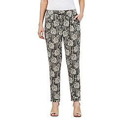 RJR.John Rocha - Khaki leaf print textured trousers