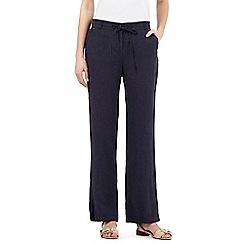 RJR.John Rocha - Navy linen trousers