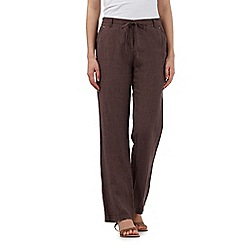 RJR.John Rocha - Brown linen trousers