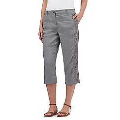 RJR.John Rocha - Grey linen cropped trousers