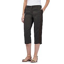 RJR.John Rocha - Khaki linen cropped trousers