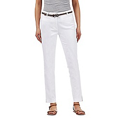 RJR.John Rocha - White belted trousers