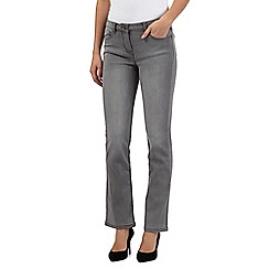 RJR.John Rocha - Light grey mid wash straight fit 'Elsa' jeans